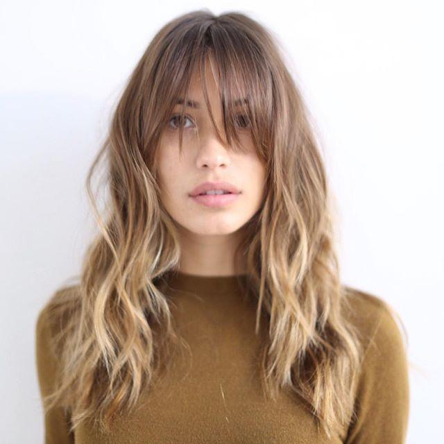 Фото омбре на светлые волосы с челкой фото